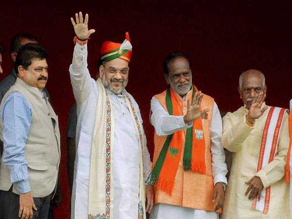 mission 2019 amit shah meeting with party leaders in telangana