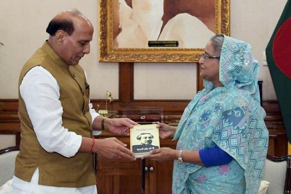 home minister rajnath sheikh hasina discusses terror issues on bangladesh tour