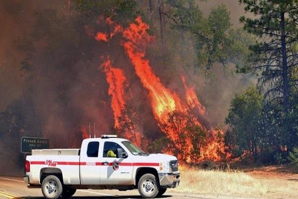 fire in california forests five dead including two children