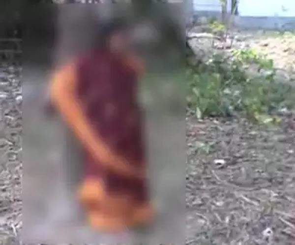 on the order of the panchayat the woman was beaten with a tree