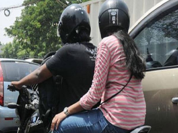 petrol without a helmet now