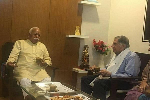 ratan tata will share platform with bhagwat