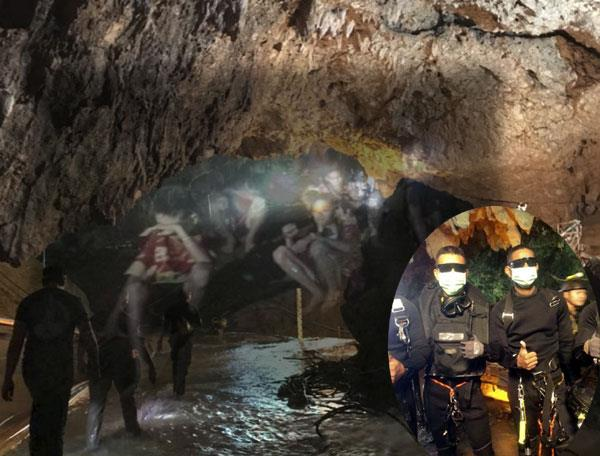 thailand footballers thailand cave rescue operation begun the diver