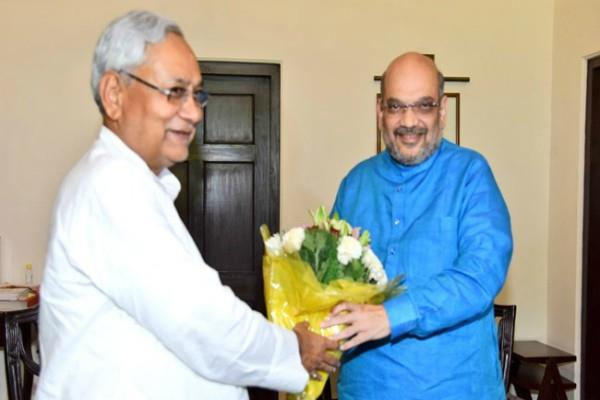 nitish could not speak front on shah