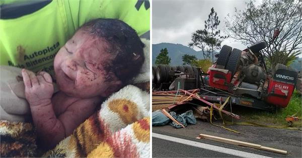 baby survives after being ripped from mother s womb in accident