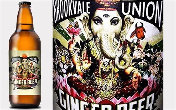photo of lord ganesha on beer bottle