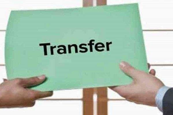 officers issuing orders for transfer and appointment