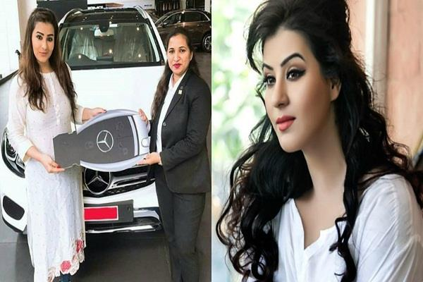 shilpa shinde buys mercedes car