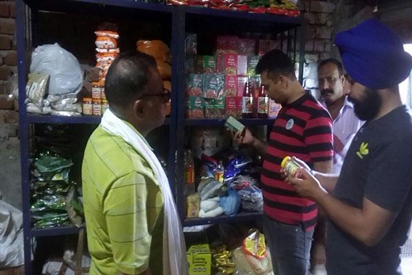 food safety dept took sample from amarnath langars