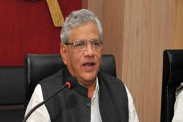 yechury says msp legal rights to farmers