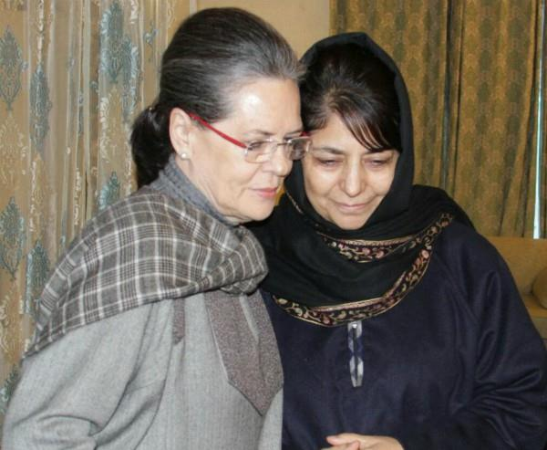mehbooba will meet sonia and rahul
