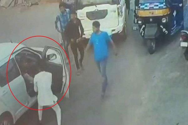 bjp mla son beaten car driver