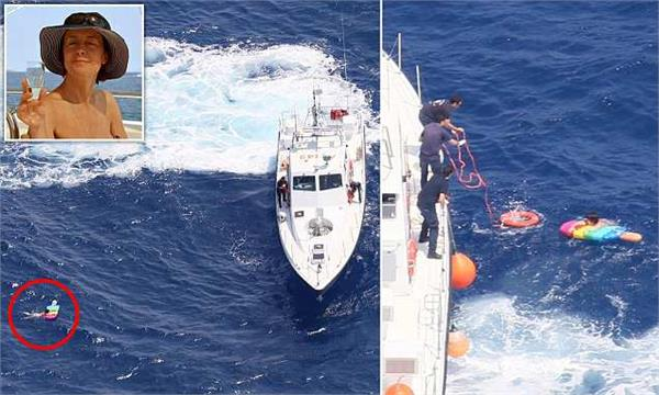 russian woman floats in sea off crete for 21 hours on sun lounger