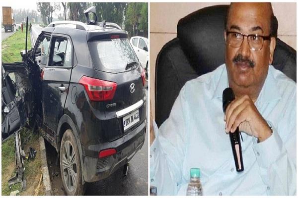 ifs officer ak jain dies in road accident