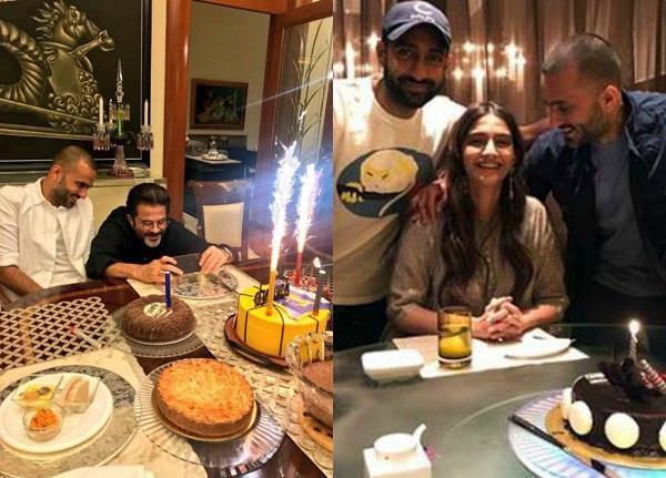 पापा अनिल के साथ मिलकर सोनम ने मनाया पति आनंद का बर्थडे, तस्वीरें शेयर कर लिखा रोमांटिक मैसेज