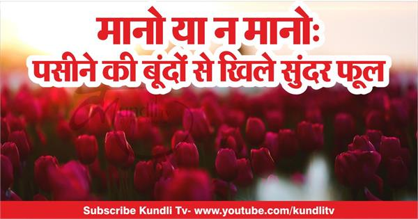kundli tv believe it or not beautiful flowers blooming with sweat drops