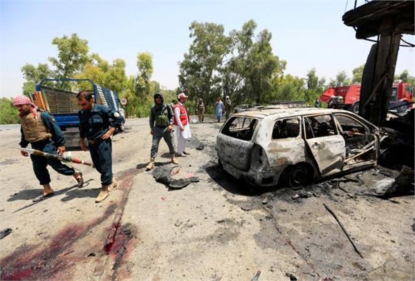 suicide attack on afghan security forces 10 deaths