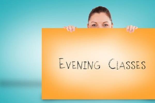 evening classes for children of slum area
