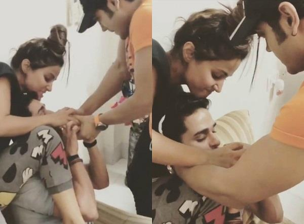 hina khan share video of priyank sharma and luv tyagi