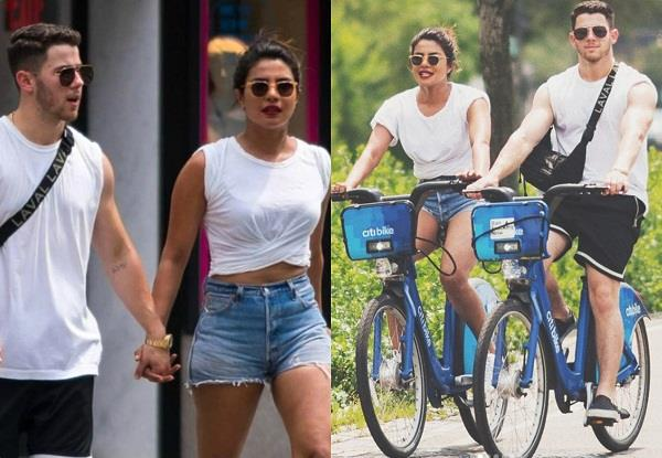 priyanka hot pants with nick in brazil