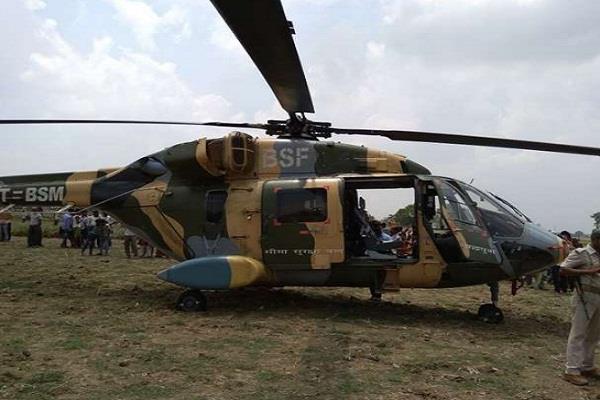 emergency landing of crpf helicopter in aurangabad