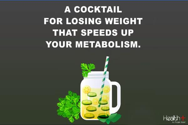 a cocktail for losing weight that speeds up your metabolism