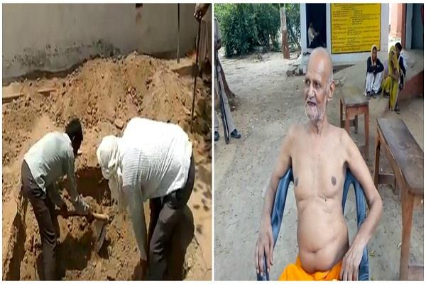 hamirpur elderly man attempts entombment police saves him