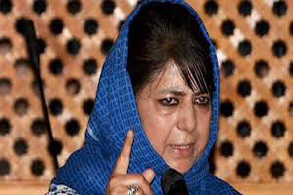 mehbooba said that her mlas are faered of nia
