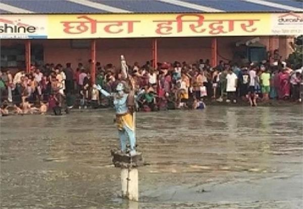 due to being dangerous in small haridwar diving passengers dived after diving