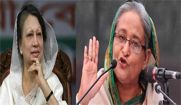 khaleda is pretending illness in prison pm hasina