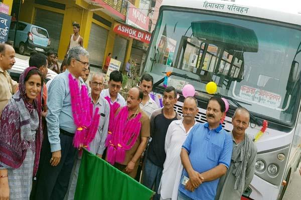 bus service start to jogindernagar from baldwara mla gave green signal