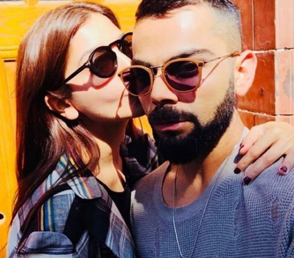 virat kohli shares romantic pic with anushka sharma