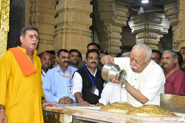 mohan bhagwat reached gujarat before the rss meeting