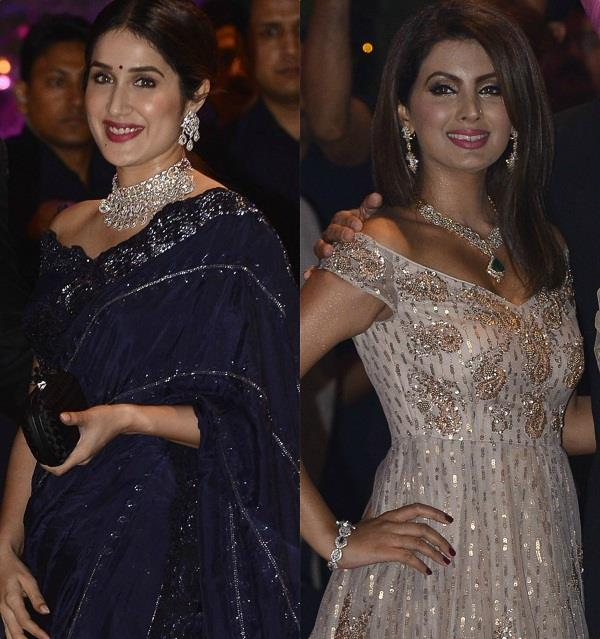 sagarika ghatge and geeta basra at ambani engagement