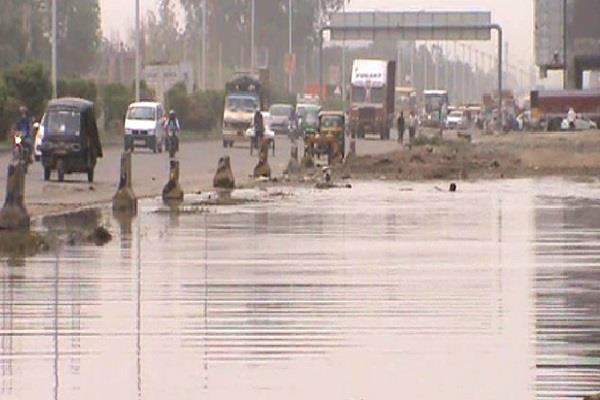 national highway making swimming pool