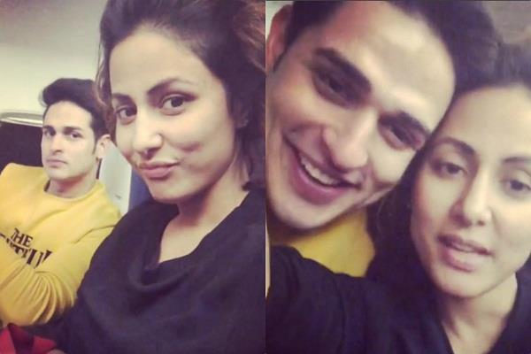 hina khan share the video with priyank sharma in flight