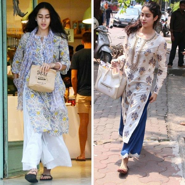 janhvi kapoor gave a reply to the comparison with sara ali khan