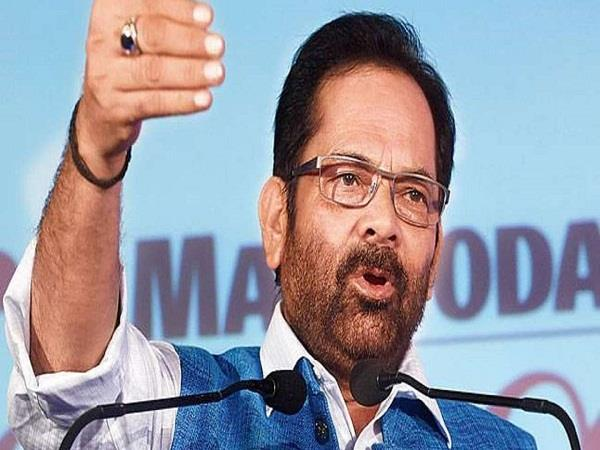 naqvi targets congress says communal no modi government