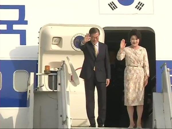 korean president arrives on four day visit to delhi