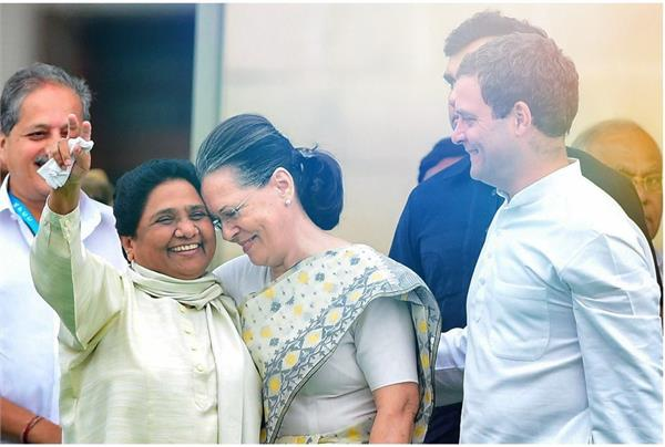 coalition between congress and mayawati