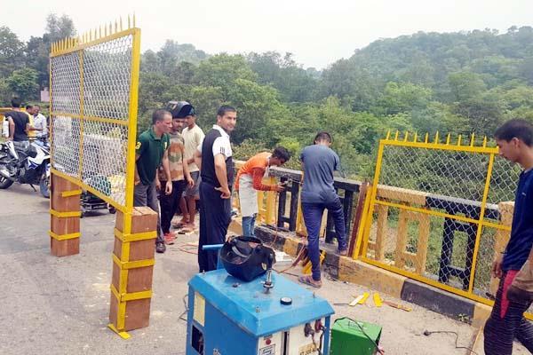 fencing work started on the beas bridge in nadaun