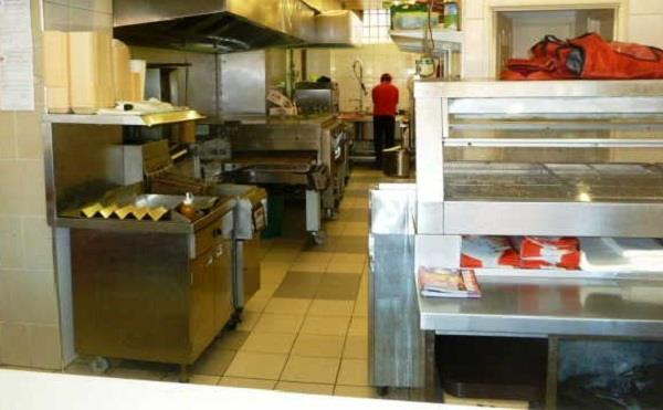 a dozen youngsters broke the fast food shop