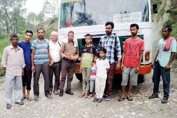 people get relief to bus started dehra from bharoli jadid