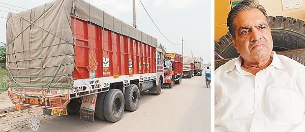 ऑल इंडिया मोटर ट्रांसपोर्ट की हड़ताल से बंद रहे ट्रक-कैंटर