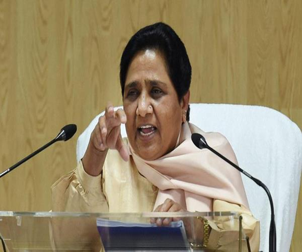 bjp s dictatorship symbol of the killing of democracy mayawati