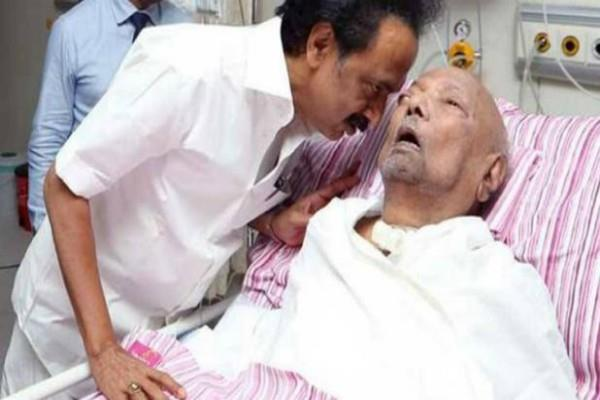 dmk chief s condition worsened hospital