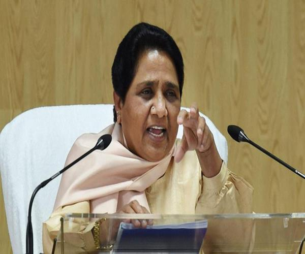 mayawati s targeting bjp on rising crime