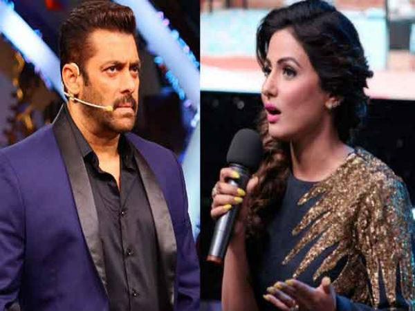 hina khan will not come on the salman khan show