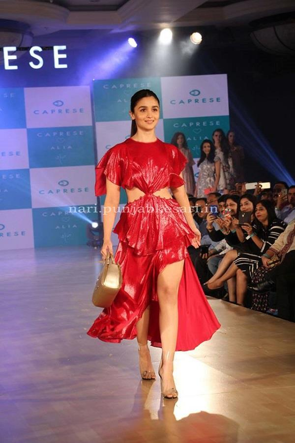 alia bhatt walks the ramp for caprese s new collection