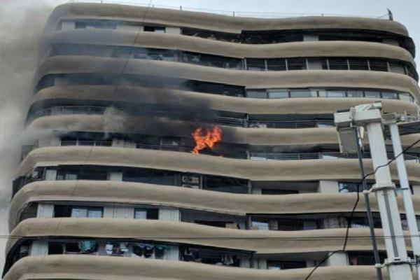 mumbai a furious fire in the crystal tower